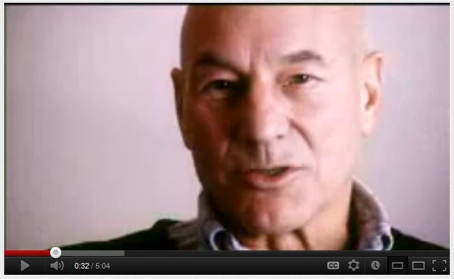 patrick Stewart talks about domestic violence